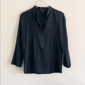 Marc by Marc Jacobs Black Silk Button Blouse Sz 2